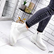 Ботинки женские белые, демисезонные из эко кожи. Черевики жіночі білі з еко шкіри утеплені, фото 2