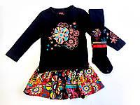 Комплект: Джемпер, юбка и колготы Losan Kids girls (526-8006AD/63) Черный 2 Years-92 см