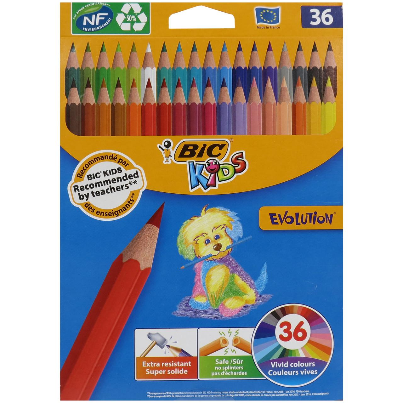 Набір кольорових олівців 36 шт Bic 140