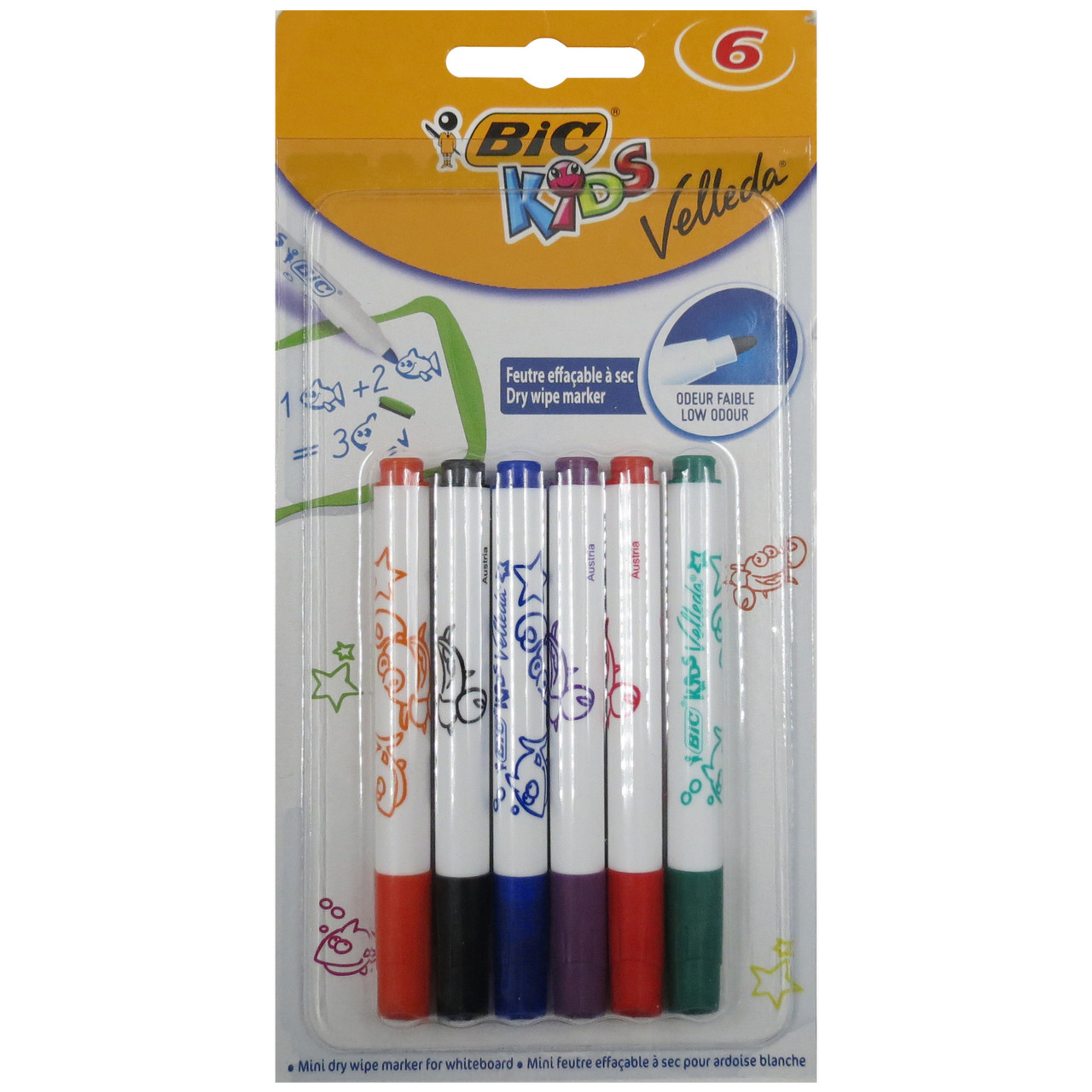 Набір маркерів Bic Kids Velleda 6 шт 426