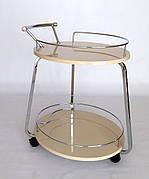 Сервірувальний столик Флоренція V323 Exm, метал + крем МДФ