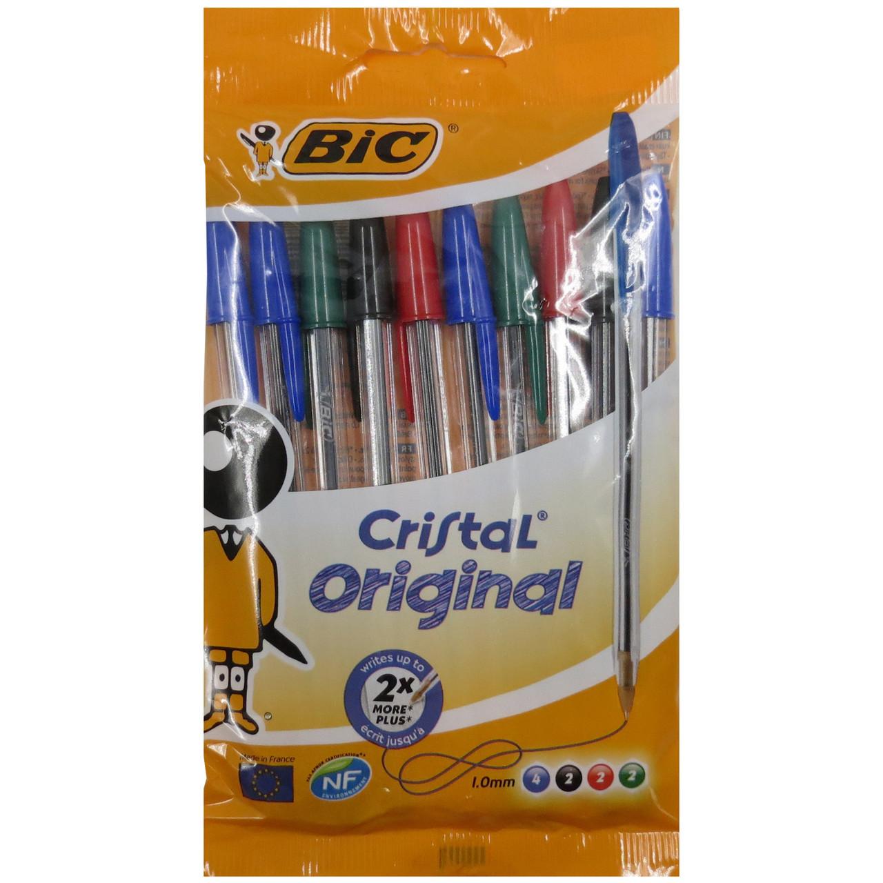 Набір ручок Bic Cristal Original кулькових різнокольорових 10 шт 125