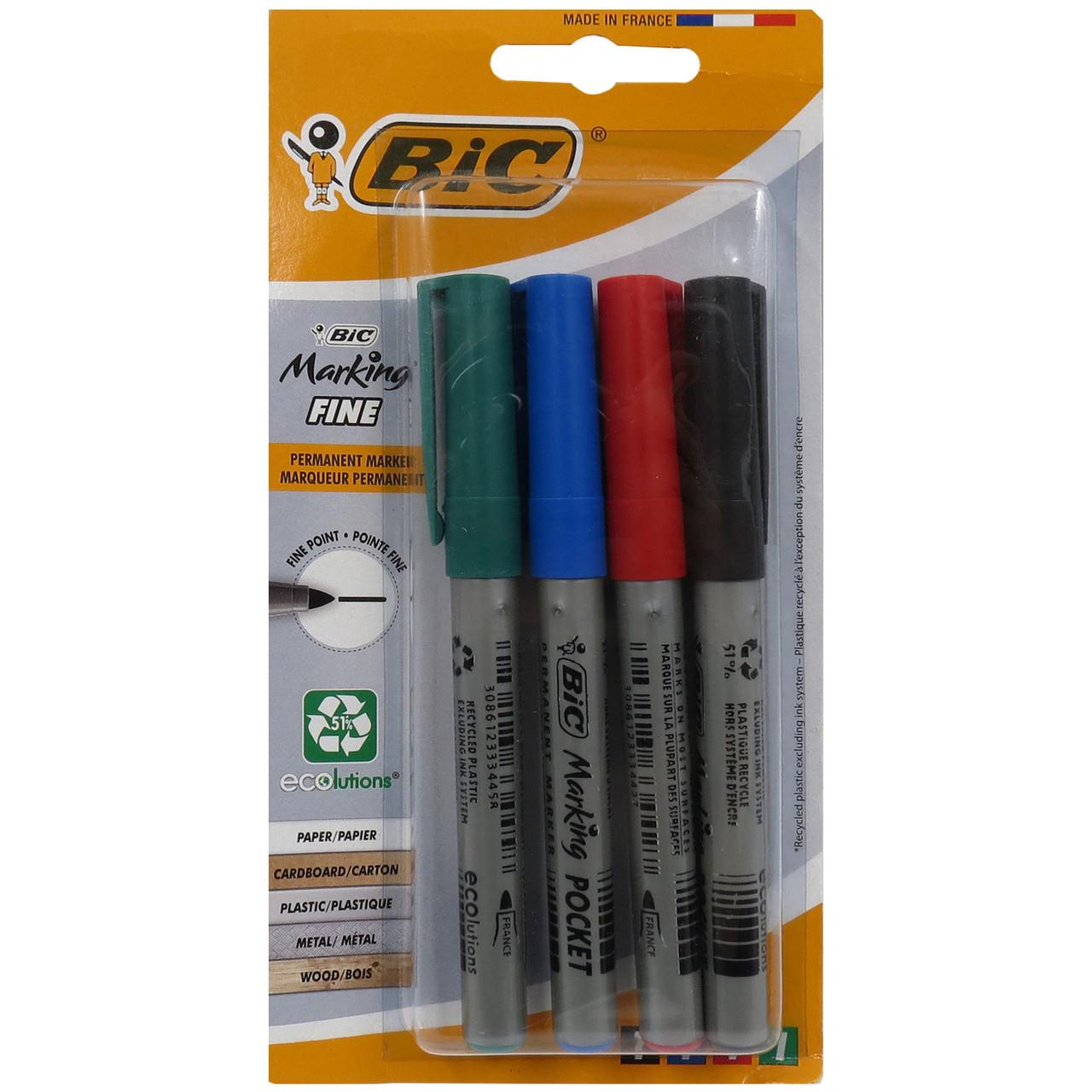 Набор маркеров 4 шт Bic 444