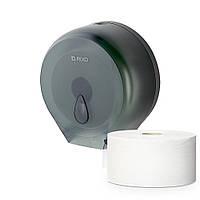 Диспенсер туалетной бумаги в стандартных и джамбо рулонах Rixo Maggio P002TB настенный пластиковый черный