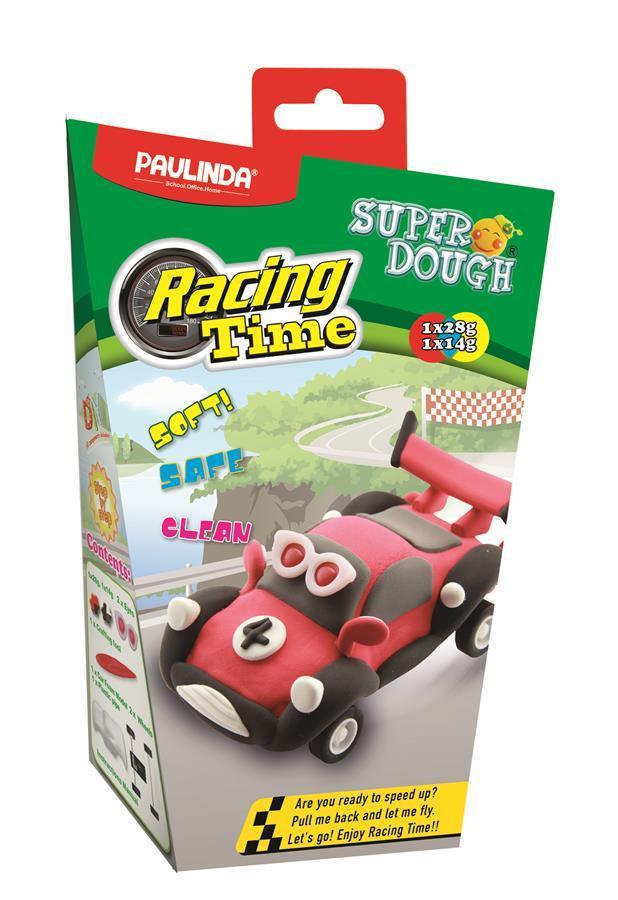 Маса для ліплення PAULINDA Super Dough Racing time машинка Червоний (PL-081161-4)