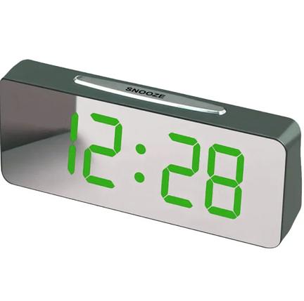 """Большие настольные часы будильник VST-763Y Зелёные Цифры (зеркальный диспелей 7,8""""), фото 2"""