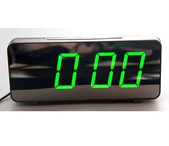 """Большие настольные часы будильник VST-763Y Зелёные Цифры (зеркальный диспелей 7,8""""), фото 3"""