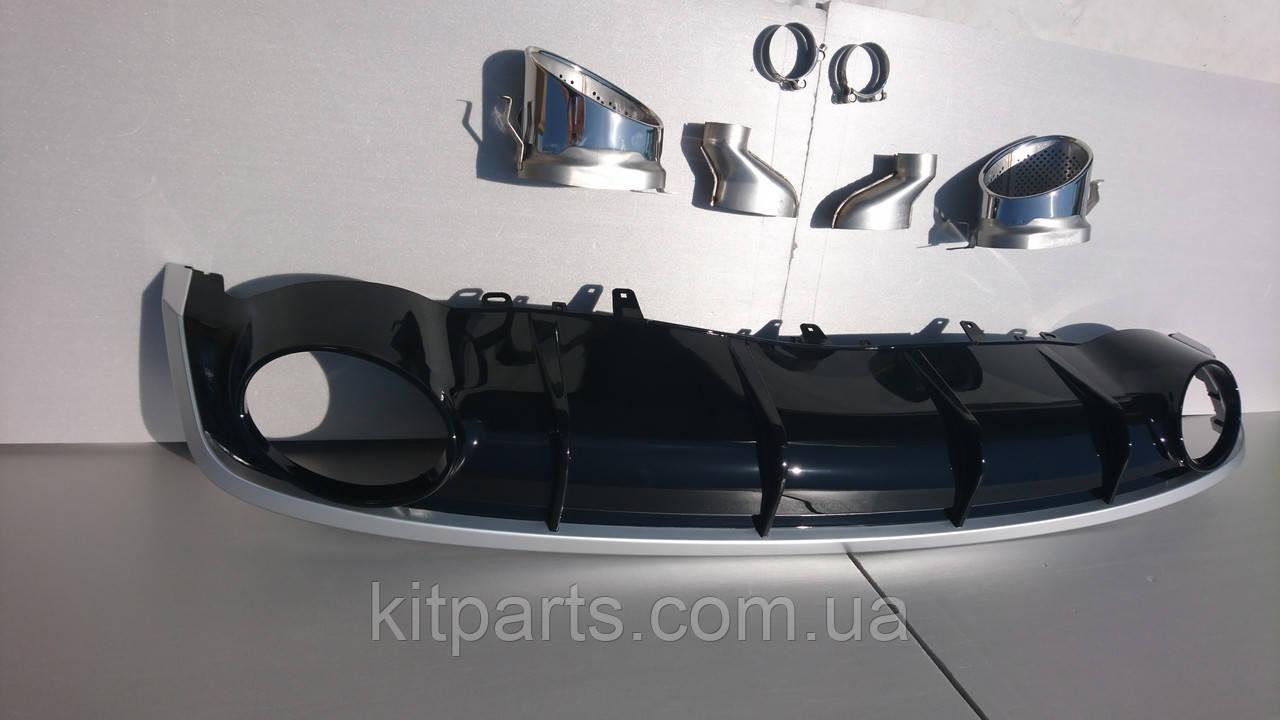 Дифузор задній Audi A7 стиль RS7 16+ S-line