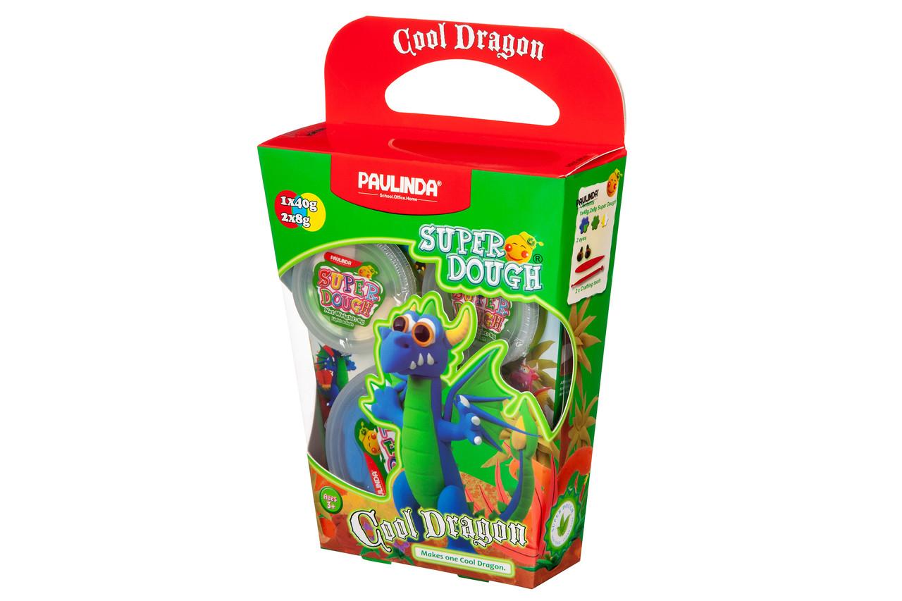 Масса для лепки PAULINDA Super Dough Cool Dragon Дракон Синий (PL-081378-16)