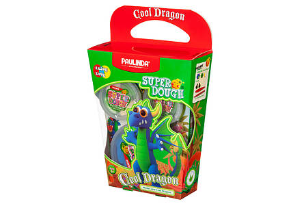 Масса для лепки PAULINDA Super Dough Cool Dragon Дракон Синий (PL-081378-16), фото 2