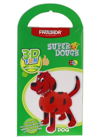 Масса для лепки PAULINDA Super Dough 3D FUN Собака (PL-081285), фото 2