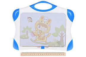 Магнітна дошка для навчання Same Toy Синій (009-2044BUt), фото 3