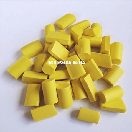 Фоам Чанкс для слайма желтый, фото 2