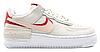 """Жіночі Кросівки Nike Air Force 1 Shadow """"Phantom Eco Pink"""" - """"Білі Сірі Червоні"""""""