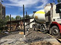 Устройство армированных промышленных наливных бетонных полов с топпингом