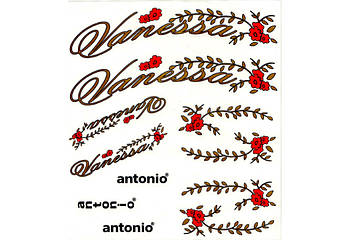 Набір наклейок для велосипеда Vanessa Antonio