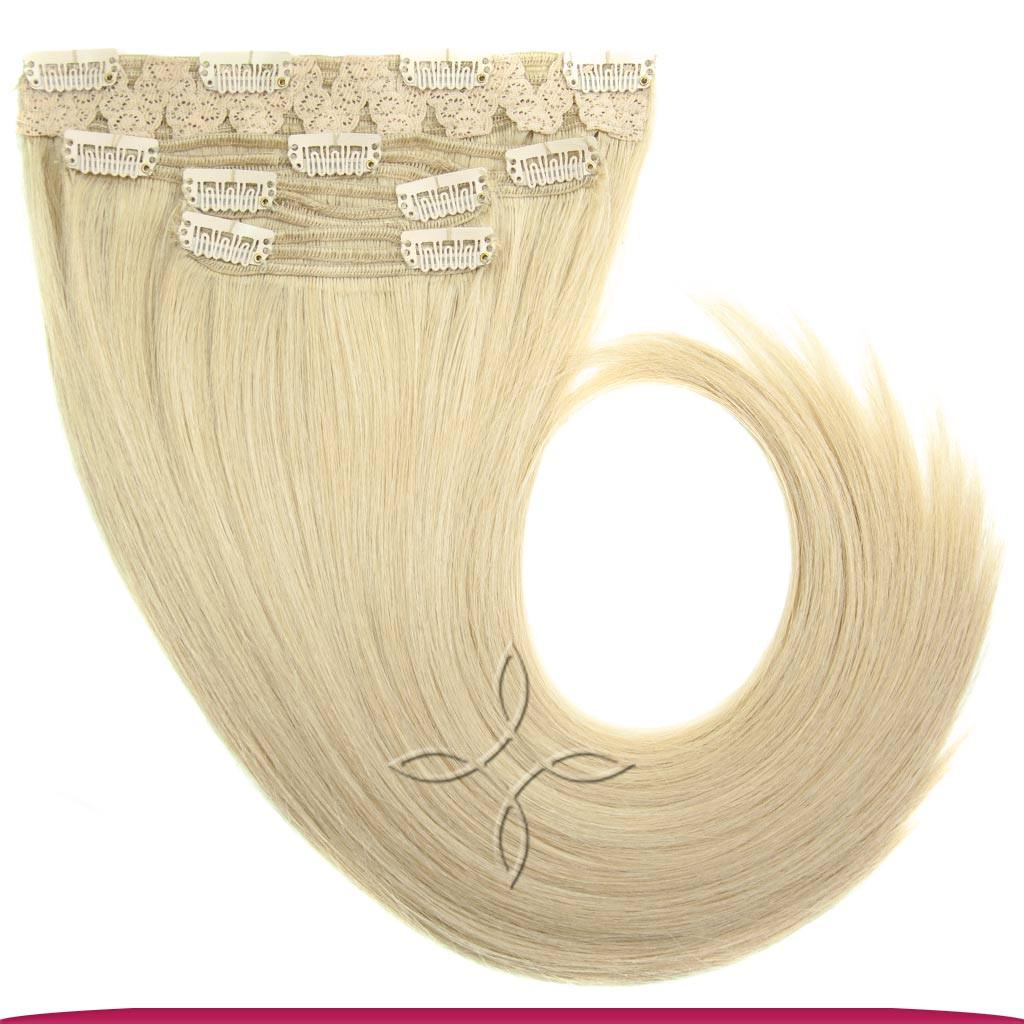 Натуральные Славянские Волосы на Заколках 45-50 см 115 грамм, Блонд №22B
