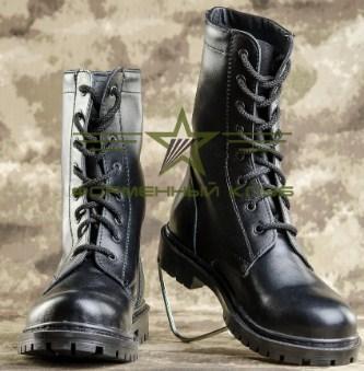 Берцы НАТО ХРОМ  кожаные черные 36