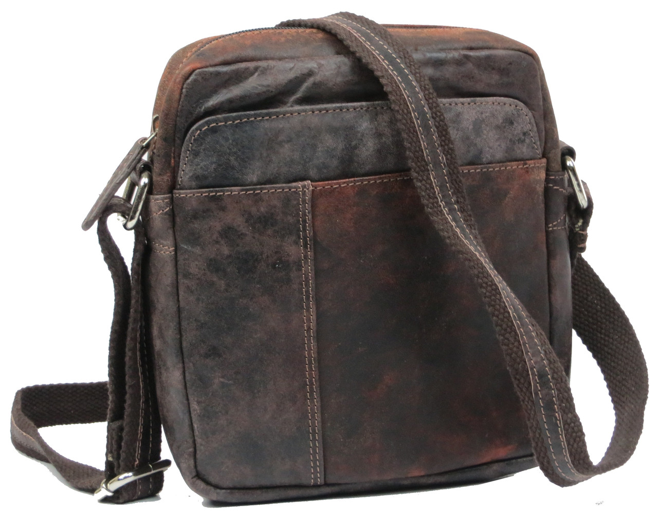 Мужская сумка из натуральной кожи Always Wild S241DIS brown