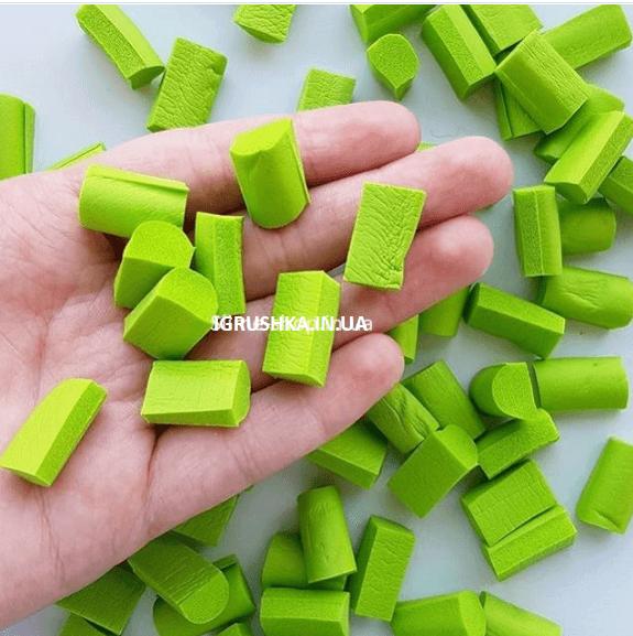 Фоам Чанкс для слайма зеленый