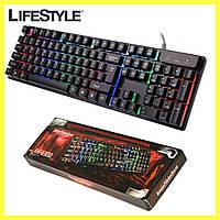 Професійна ігрова клавіатура з підсвічуванням LANDSLIDES KR-630 / Дротова клавіатура з підсвічуванням клавіш, фото 1