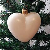 Подвеска Сердце пластик серый заготовка для новогодней игрушки, фото 5