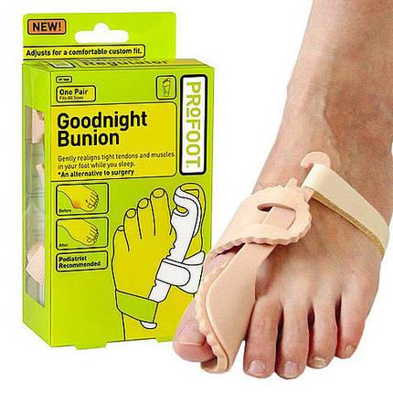 Бандаж-фиксатор на большой палец ноги Goodnight Bunion, вальгусный фиксатор, фото 2