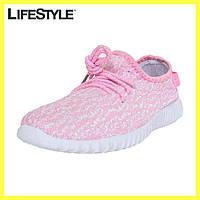 Женские кроссовуки Адидас / Кроссовки Adidas Yeezy Boost 350 Розовые, фото 1