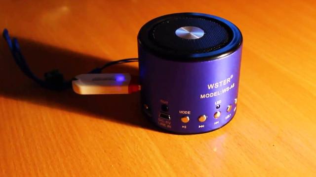 портативная колонка купить, мр3 колонка купить, колонка WS-A8 купить, USB колонка купить, FM колонка купить