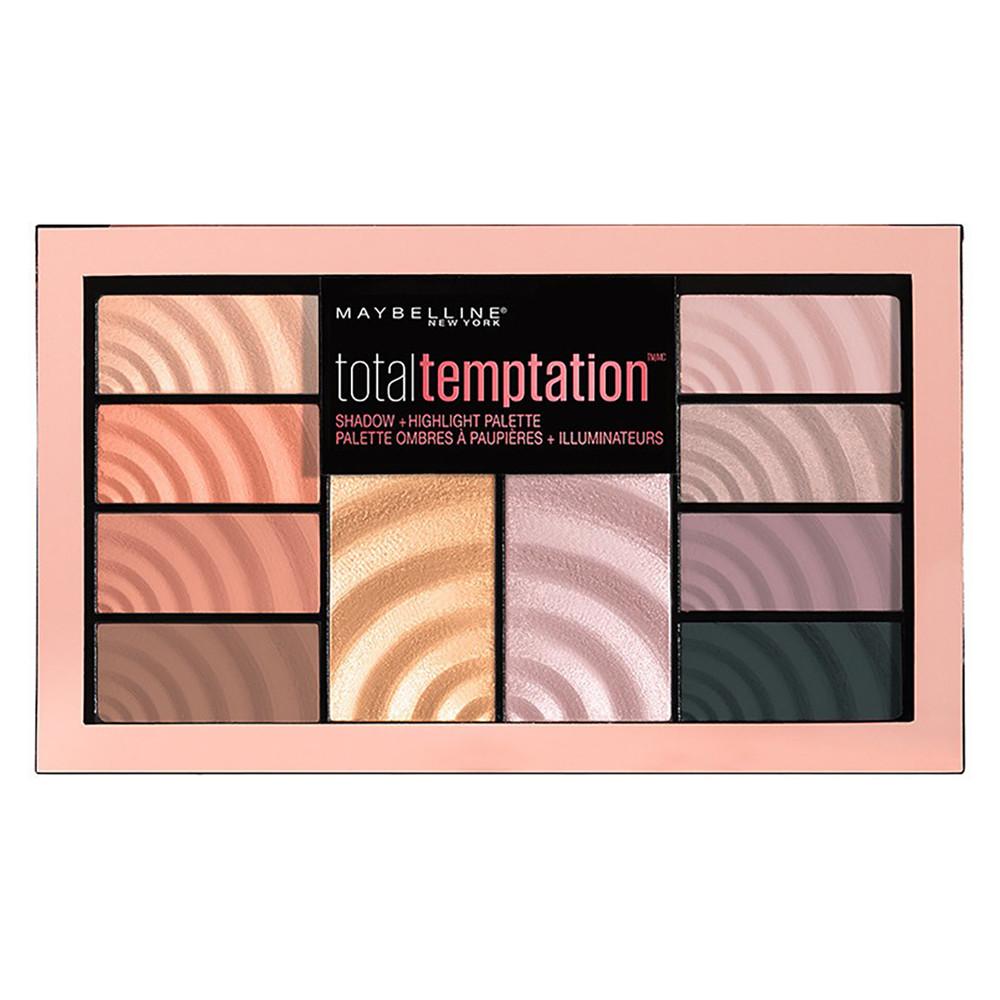 Палетка для макияжа Maybelline New York Total Temptation Eyeshadow + Highlight Palette (3600531484590)