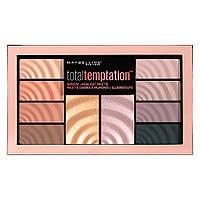 Палетка для макияжа Maybelline New York Total Temptation Eyeshadow + Highlight Palette (3600531484590), фото 1