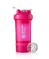 Шейкер для спортивного питания Blender Bottle ProStak 22oz 650ml Розовый