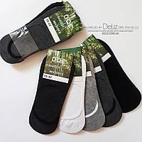 Однотонні шкарпетки-следка з силіконом DQL 6019-1 унісекс. Розмір 38-41, колір ТЕМНО-СІРИЙ