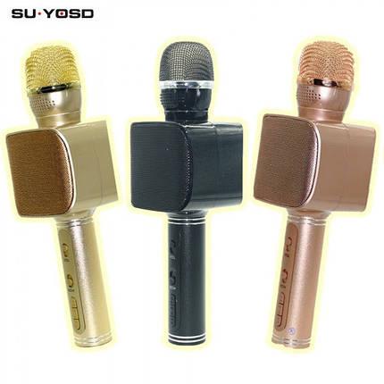 Беспроводной портативный Bluetooth микрофон для караоке Magic Karaoke YS-68 + колонка 2 в 1 с мембраной низких, фото 2