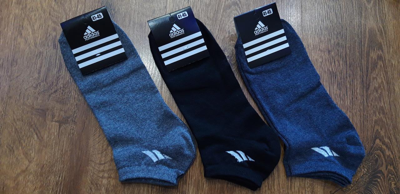 """Мужские стрейчевые носки в стиле """"Adidas W"""" Турция 41-45 короткие"""