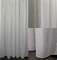 Тюль лен однотонный, (3х2,5) цвет бежевый. Код 636т 40-297, фото 1