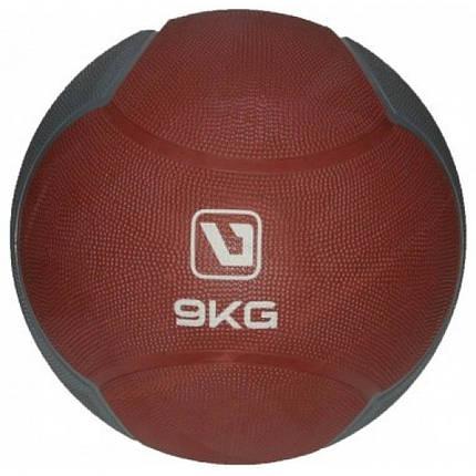 Медбол твердий 9 кг MEDICINE BALL LS3006F-9, фото 2