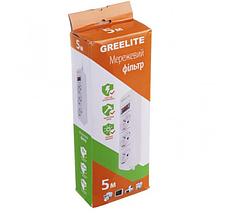 Сетевой Фильтр Удлинитель Greelite на 3 розетки 5 м, фото 3