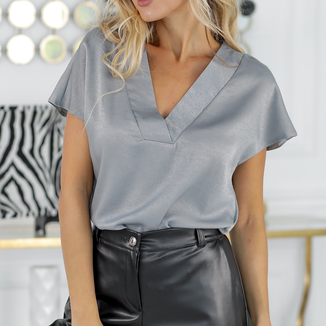 """Женская шелковая блуза """"Леди"""""""