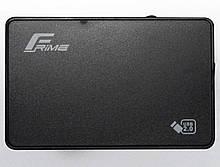 """Зовнішній кишеню Frime SATA HDD/SSD 2.5"""", USB 2.0, Plastic, Black (FHE10.25U20)"""