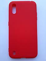 Чохол силіконовий SMTT для Samsung A01 червоний, фото 1