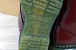 Женские ботинки Dr.Martens (bordo), бордовые мартенсы, женские мартенс (Реплика ААА), фото 7