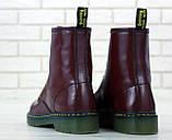Женские ботинки Dr.Martens (bordo), бордовые мартенсы, женские мартенс (Реплика ААА), фото 4
