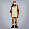 Пижама кигуруми Обезьяна коричневая S (150-160см), фото 2
