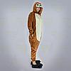 Пижама кигуруми Обезьяна коричневая S (150-160см), фото 4