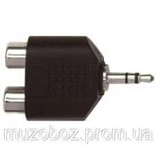 Переходник Proel Jack 3.5 M стерео - 2xRCA F (AT 128)