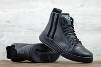 Мужские кожаные ботинки/кеды зима
