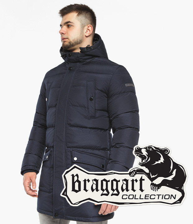 Braggart Dress Code 32045   Мужская зимняя куртка темно-синяя