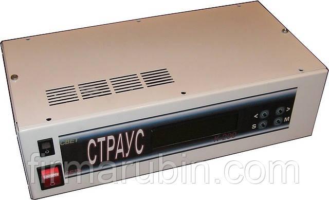 Контроллер инкубатора «СТРАУС» (блок управления инкубатором) с датчиками 600, Нет, 1