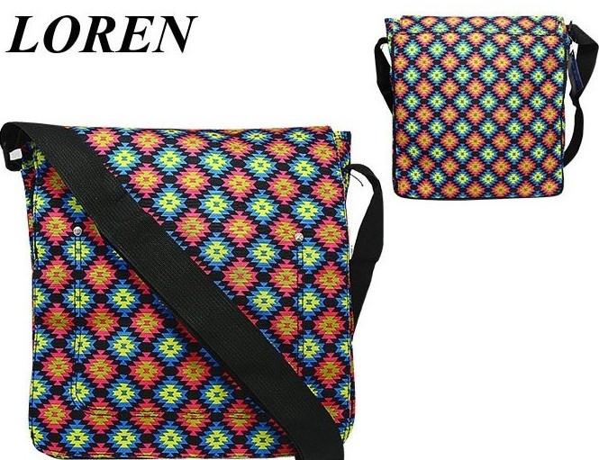 Сумка почтальонка Loren TN-1029 9005 разноцветная